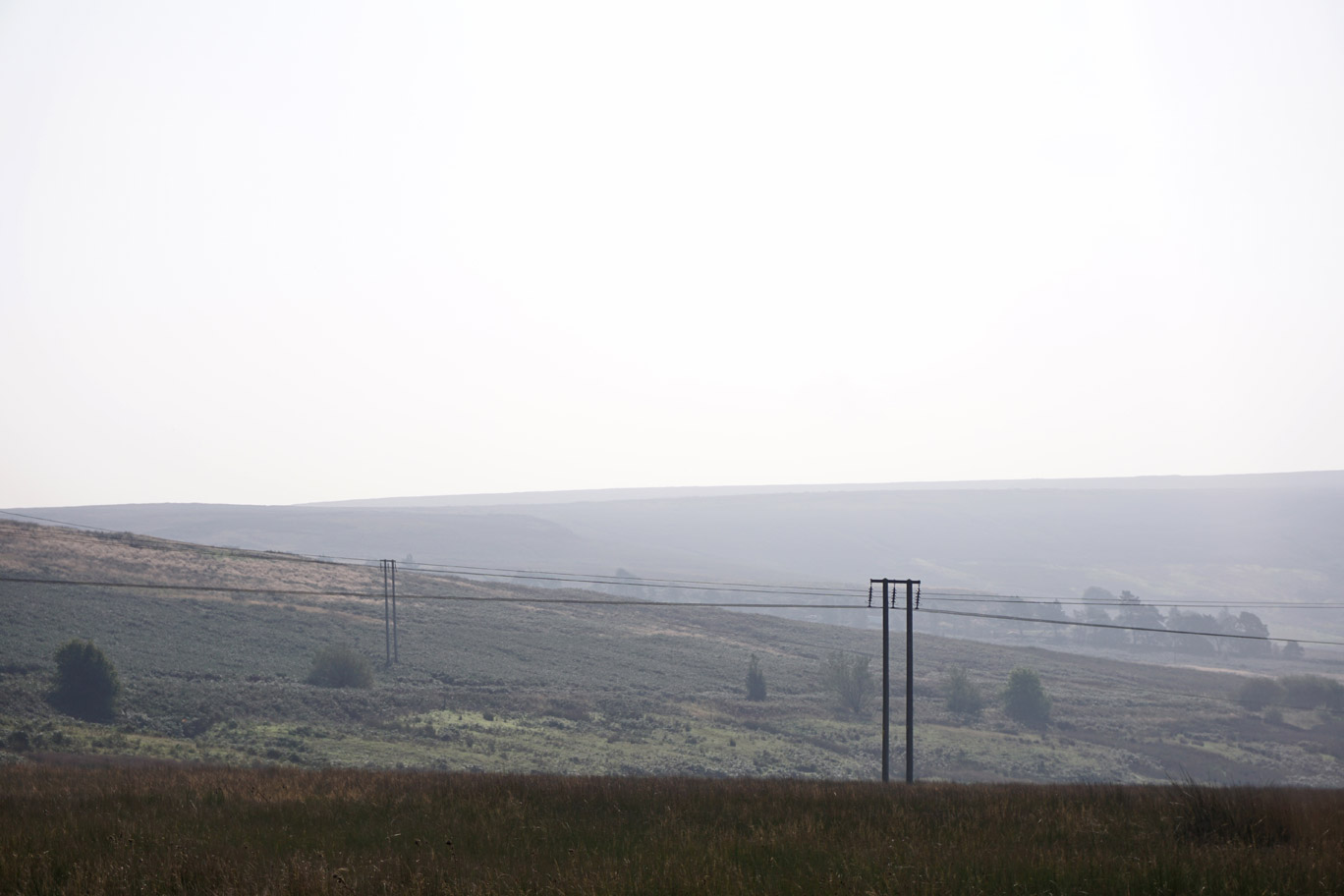 Pylons through the countryside